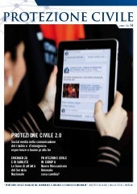 Magazine Protezione Civile - Anno 4 - n. 14 - gennaio-marzo 2014