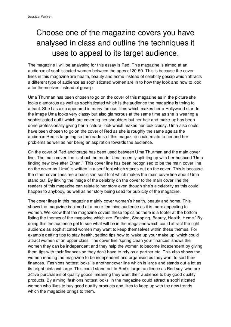 short essay on magazine