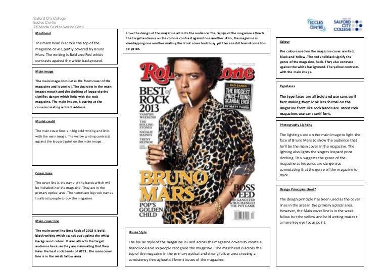 magazine cover analysis rolling stones