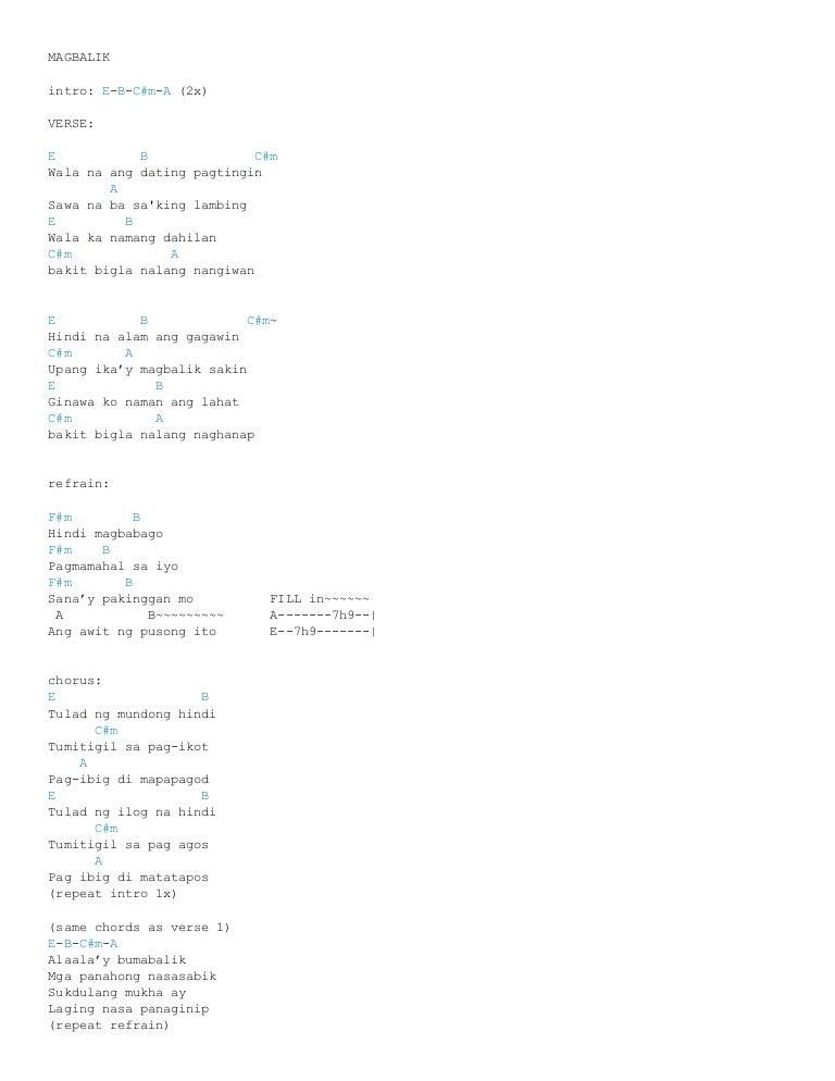 Lyrics parokya