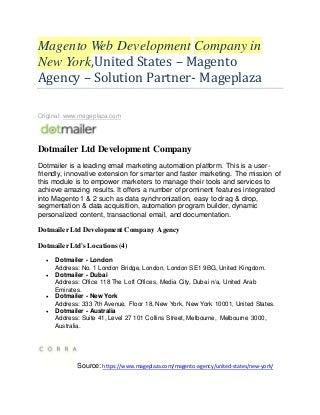 Top 20 Magento development agency - Magento solution partner - New York, USA