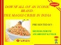 DOWNFALL OF AN ICONIC BRAND: THE MAGGI CRISIS IN INDIA