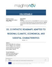 Maghrenov deliverable 3.3 - Synthetic roadmap adapted to regional climatic economical and societal characteristics