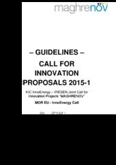 "KIC InnoEnergy and IRESEN joint call is open: consult the ""GUIDELINES - INNOVATION PROPOSALS 2015-1"""