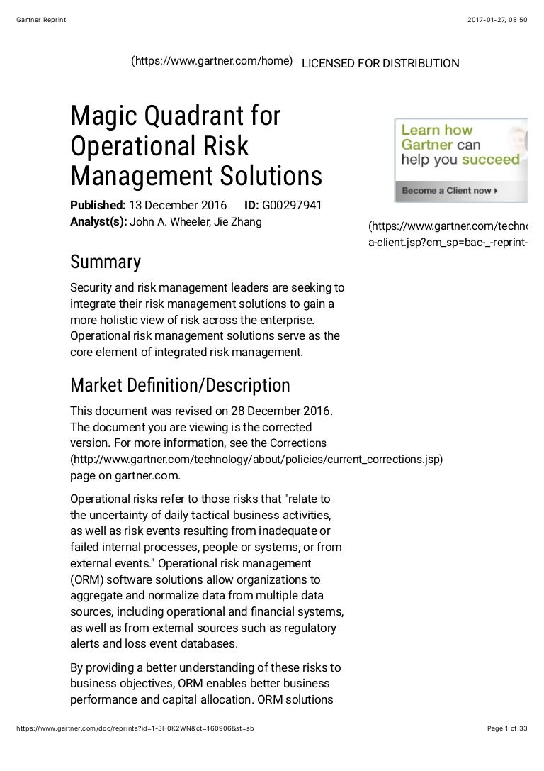 Magic quadrant for operational risk management solutions fandeluxe Images