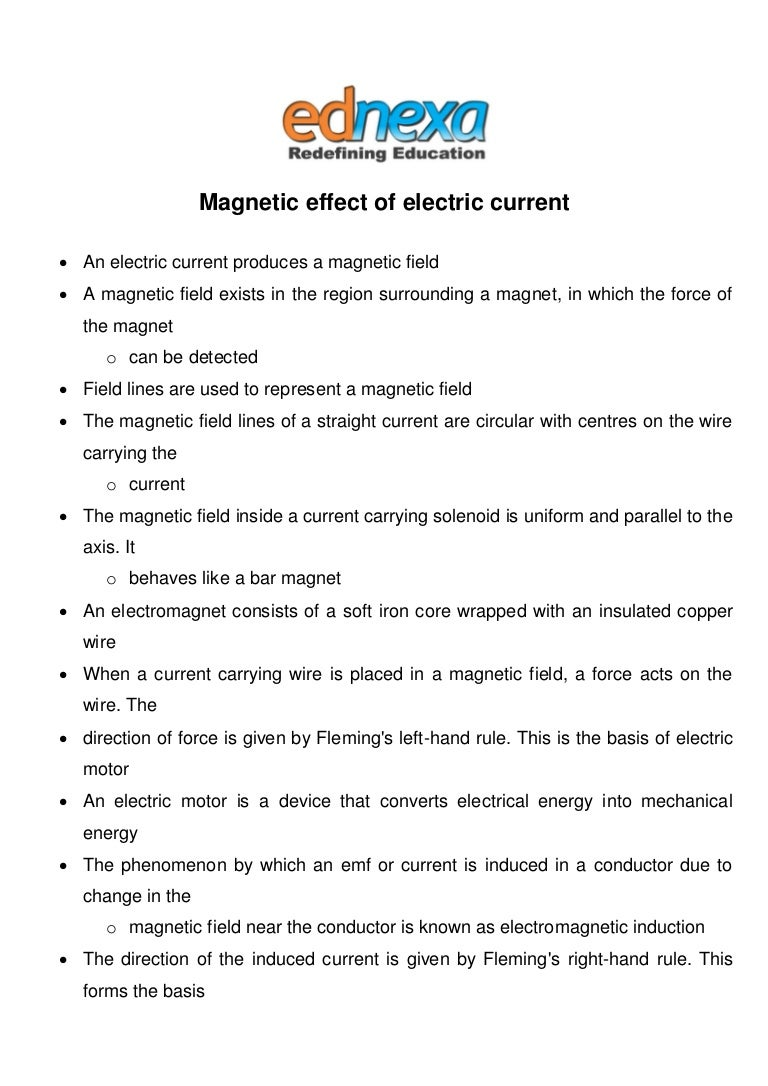 Magnetic Effect Of Electric Current Notes Jee Main 2015 The Direction Forces On Coil In Motor