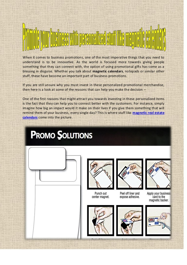 Magnetic Notepads - www.promosolutions.biz