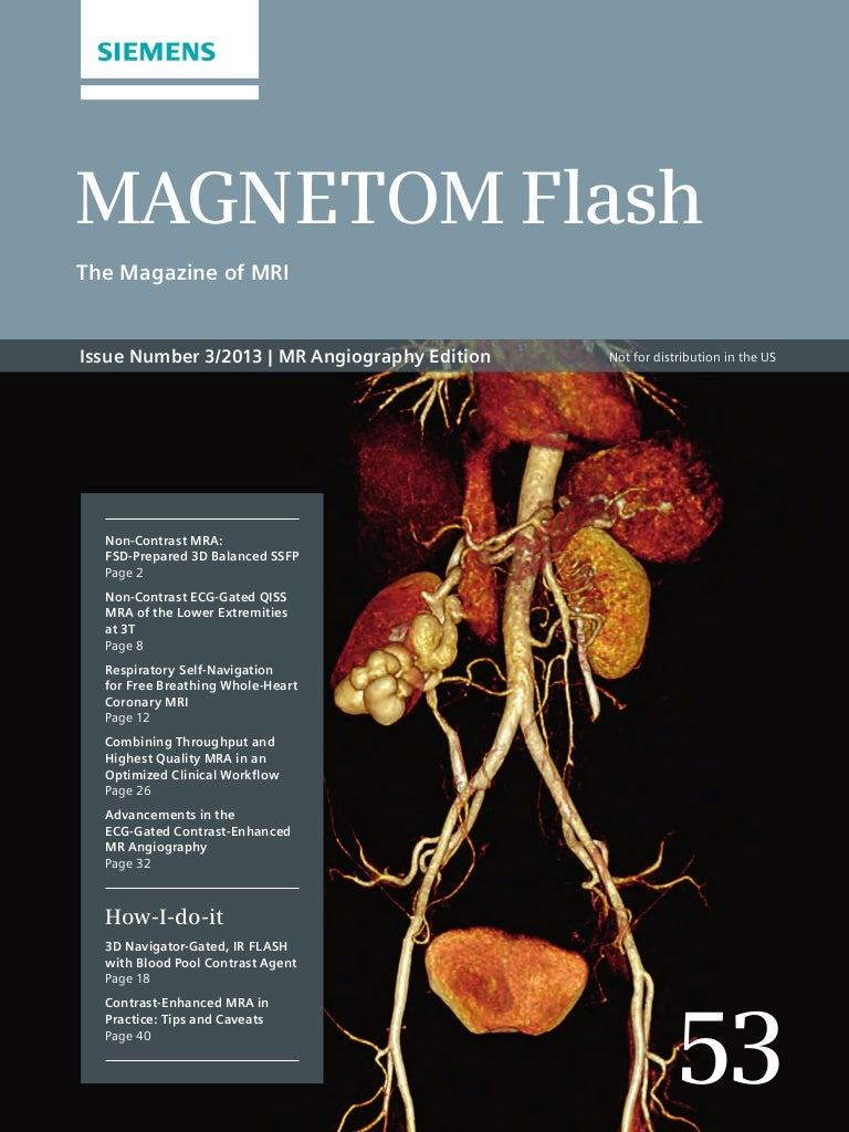 MR Angiography Edition – Issue 53