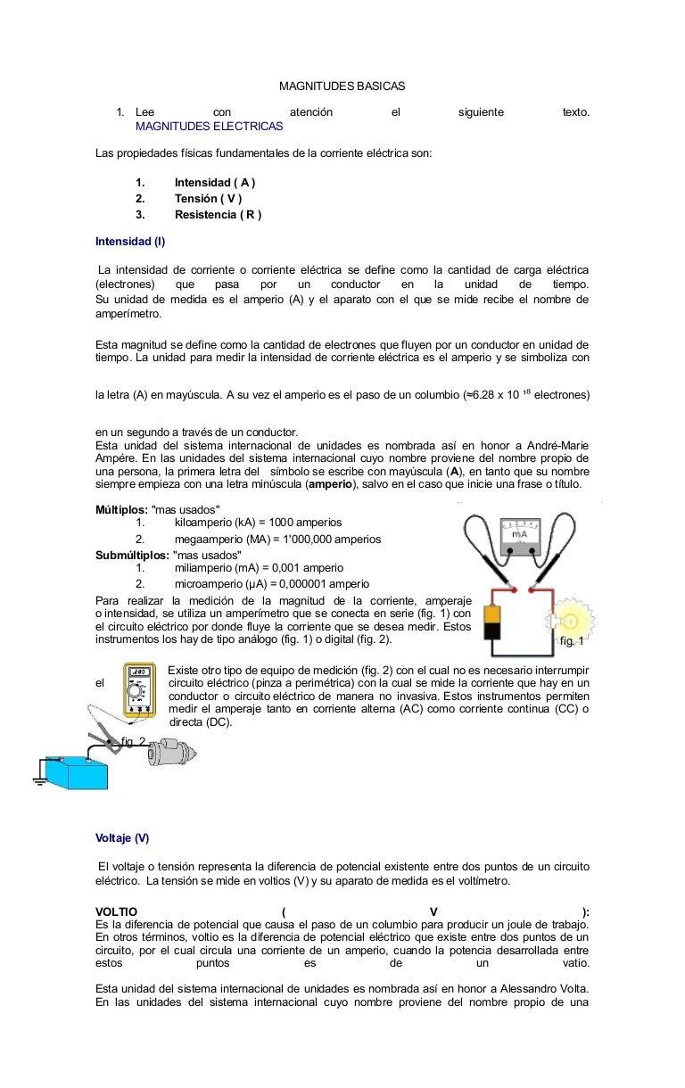 Circuito Electrico Basico : Practica electricos