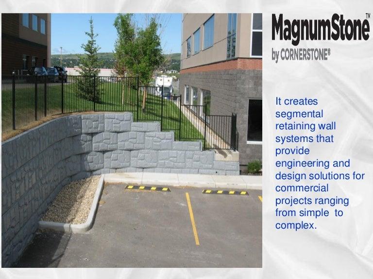 wall solutions creates segmental retaining wall systems magnum stone - Segmental Retaining Wall Design