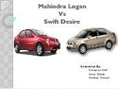 Mahindra logan Vs swift desire
