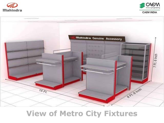 Accessories Display for Mahindra & Mahindra Metro Cities by CAEM India