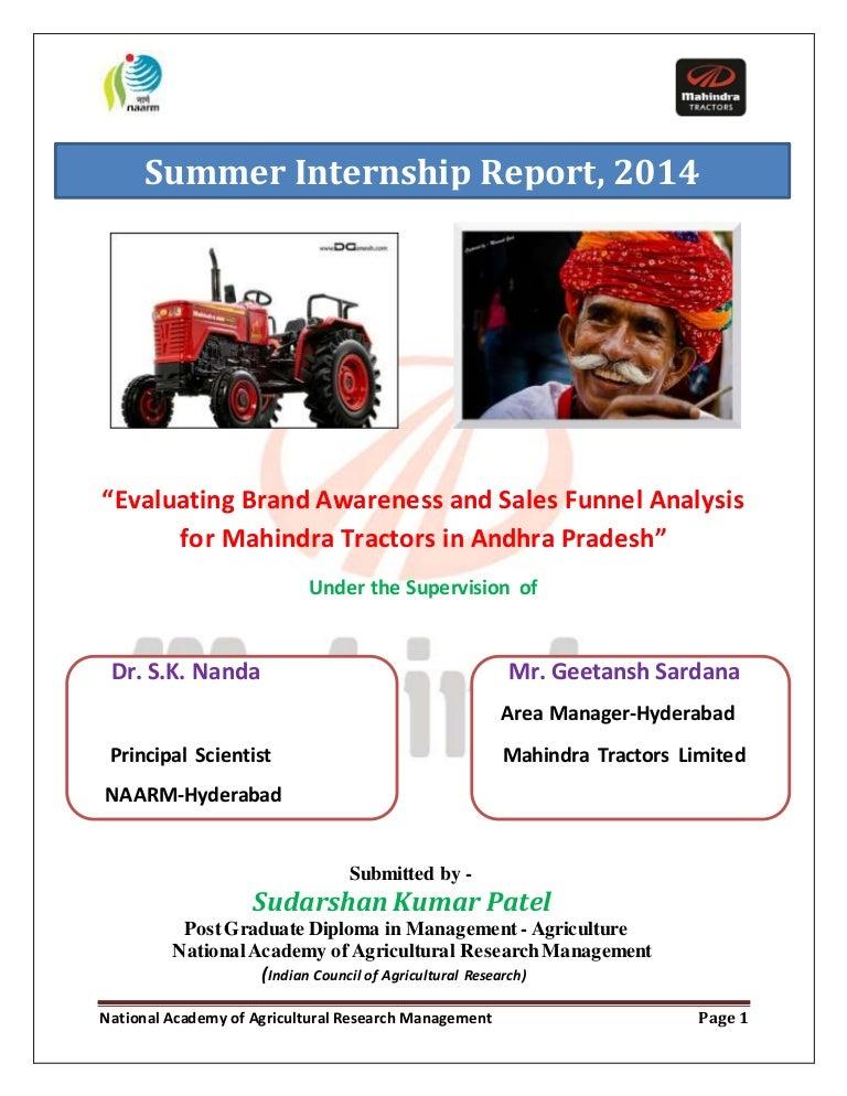 Mahindra report 2014 final sudarshan
