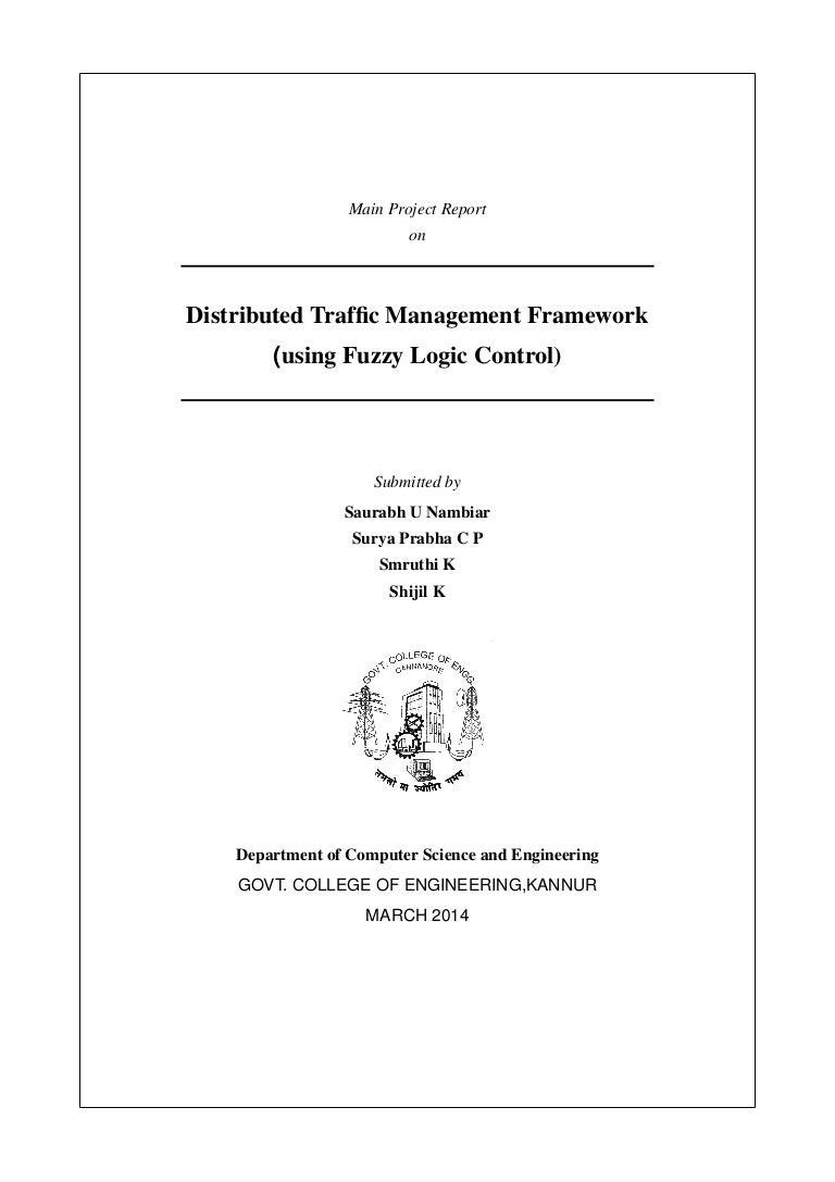 Distributed Traffic management framework
