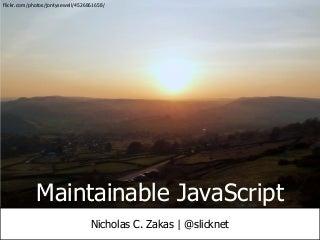 Maintainable JavaScript 2011
