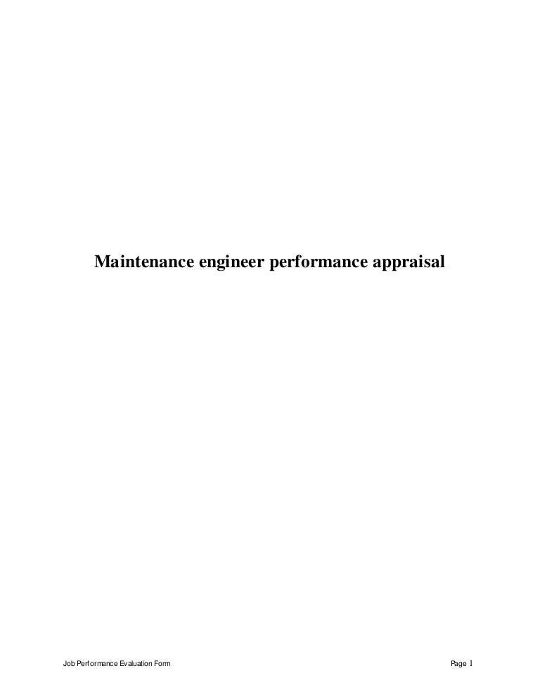 maintenanceengineerperformanceappraisal150429102334conversiongate02thumbnail4jpgcb 1430321053 – Maintenance Engineer Job Description