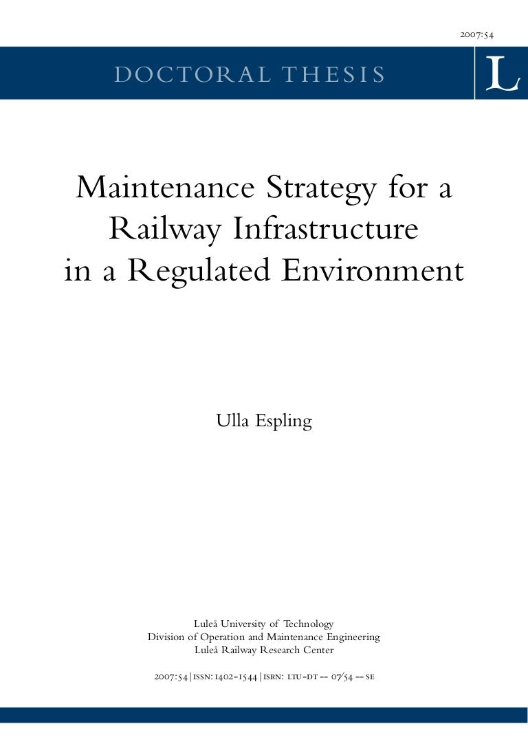 Maintenance Strategy Ltu Dt 0754 Se