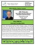 "Dr. Klaus Mainzer public presentation at Notre Dame: ""CNN Philosophy:  From Cellular Nonlinear Networks to Biologically Inspired Computing"""