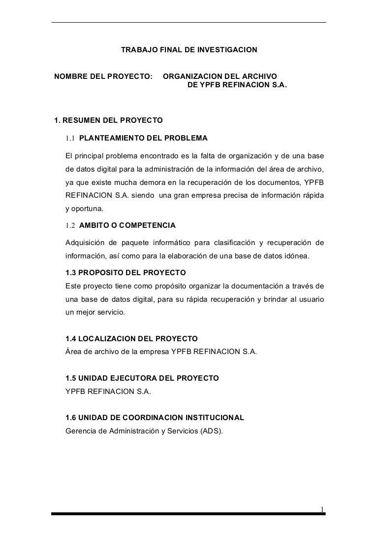 ORGANIZACION DEL ARCHIVO, Maria Jose Rojas Ayala, ORGANIZACION DEL AR…