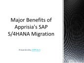 Major Benefits of Apprisia's SAP S/4HANA Migration
