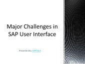 Major Challenges in SAP User Interface