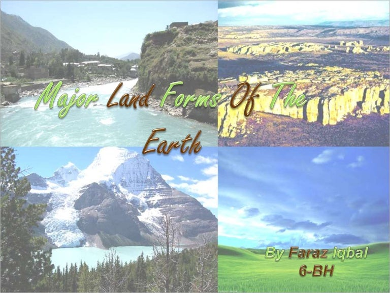 what are the major land forms