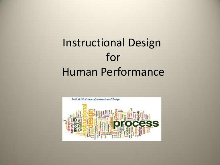 Instructional Design In Hpt