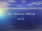 Major research methods