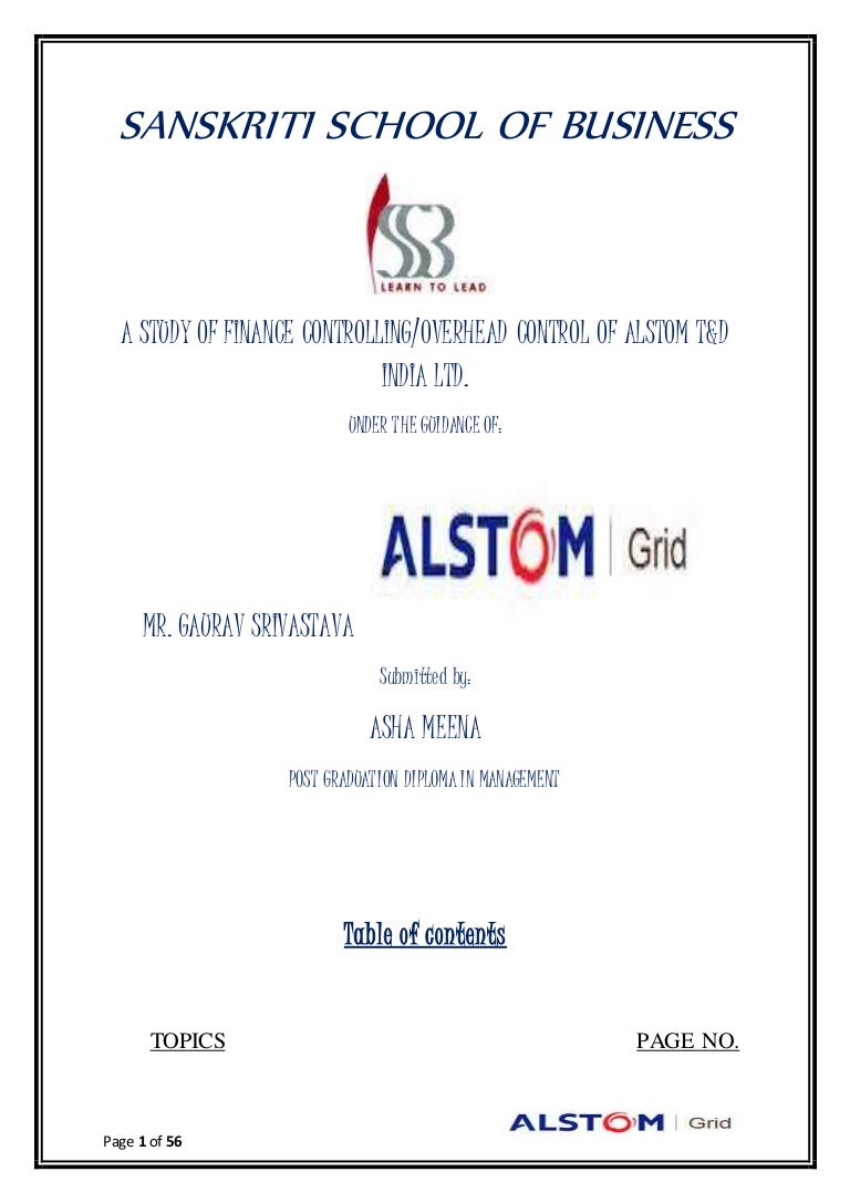 Major Research Project Alstom TD India Ltd - Alstom electromagnetic relay catalogue