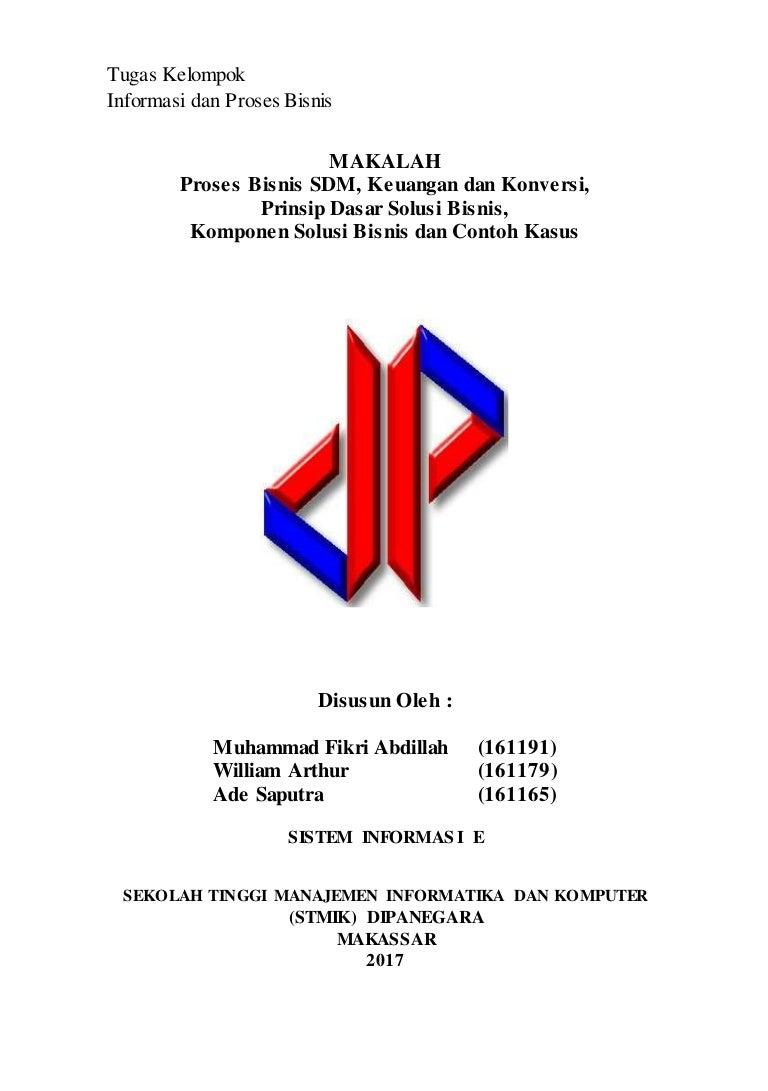 Makalah informasi dan proses bisnis rismayani s kom m t ccuart Choice Image