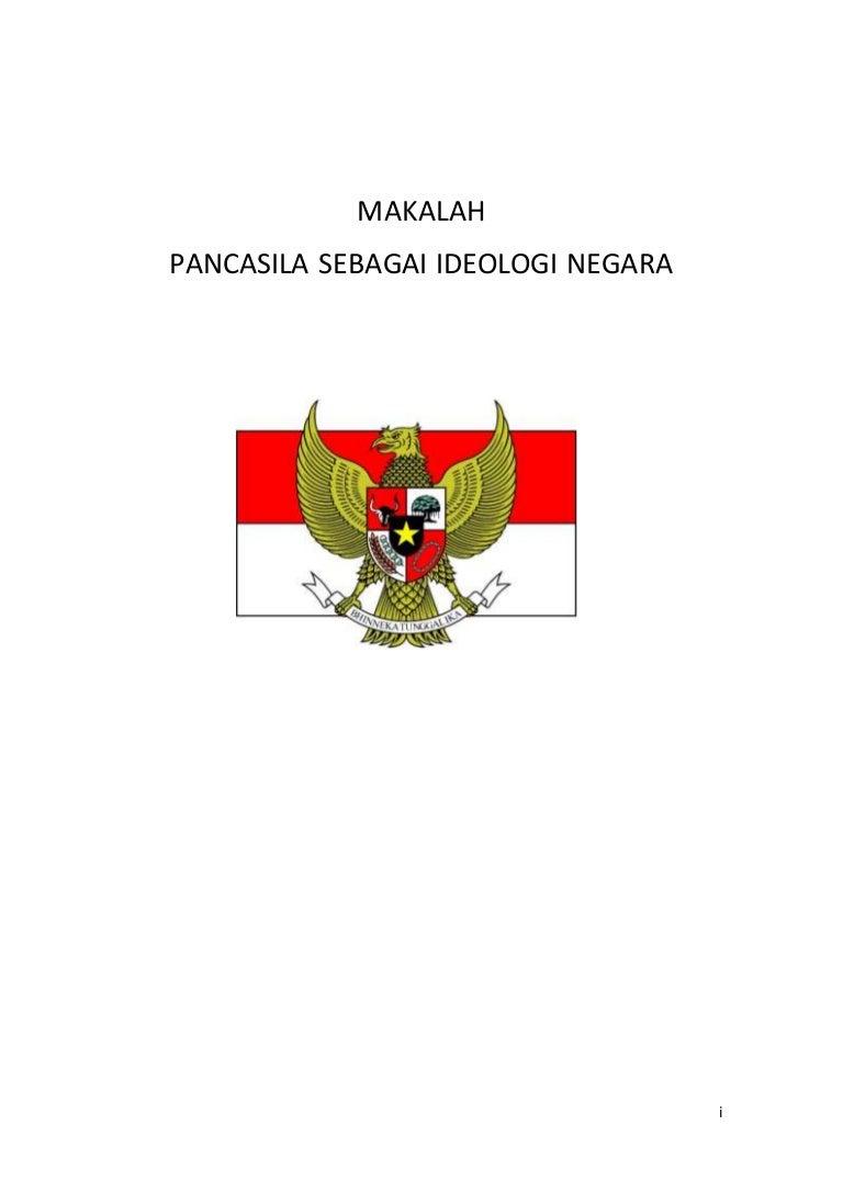 Makalah Pancasila Sebagai Ideologi Negara