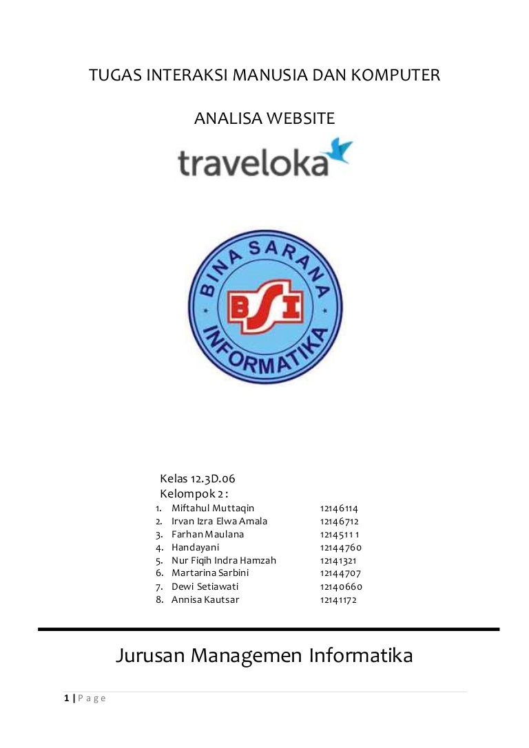 Analisa Website Traveloka Makalah Imk