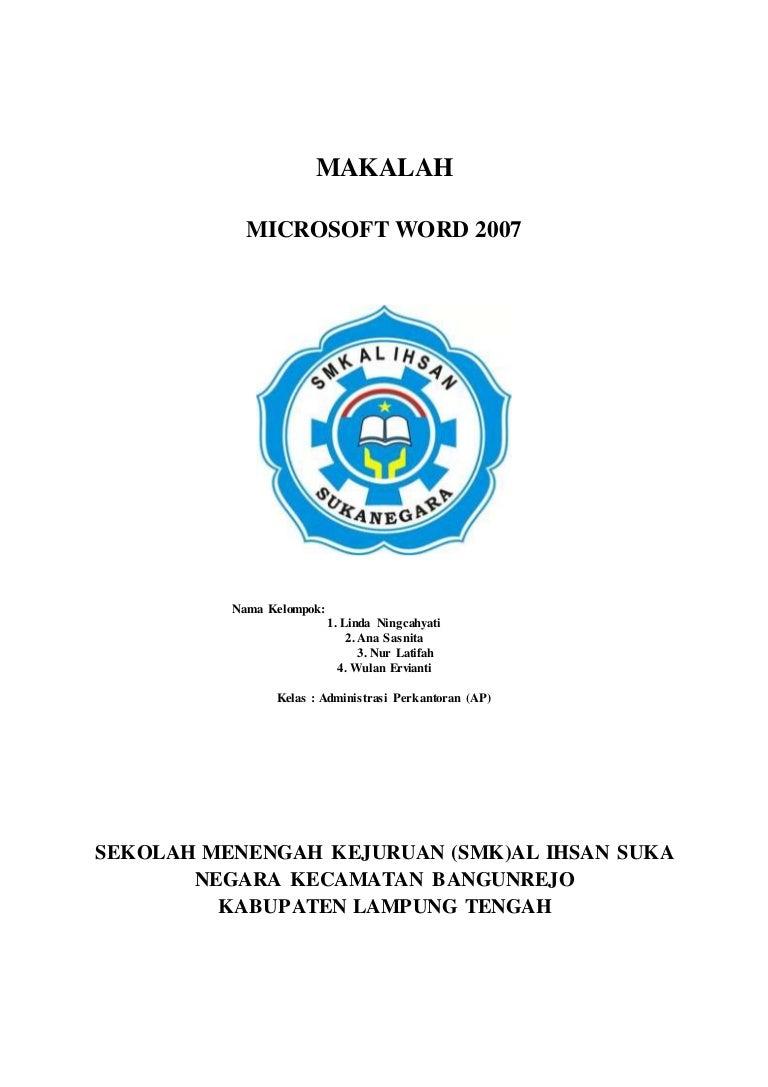 Pdf Contoh Makalah Latihan Word Pdf Iwan Gunawan Academia Edu
