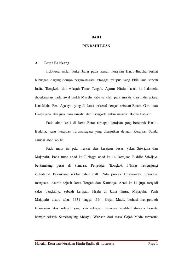 Makalah Kerajaan Kerajaan Hindu Budha Di Indonesia