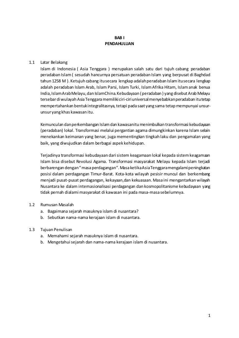 Makalah Kerajaan Islam Di Nusantara