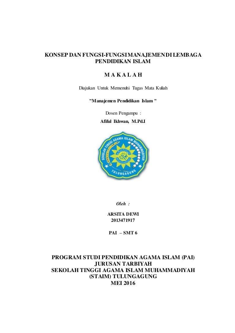 Skripsi Jurusan Manajemen Pendidikan Islam