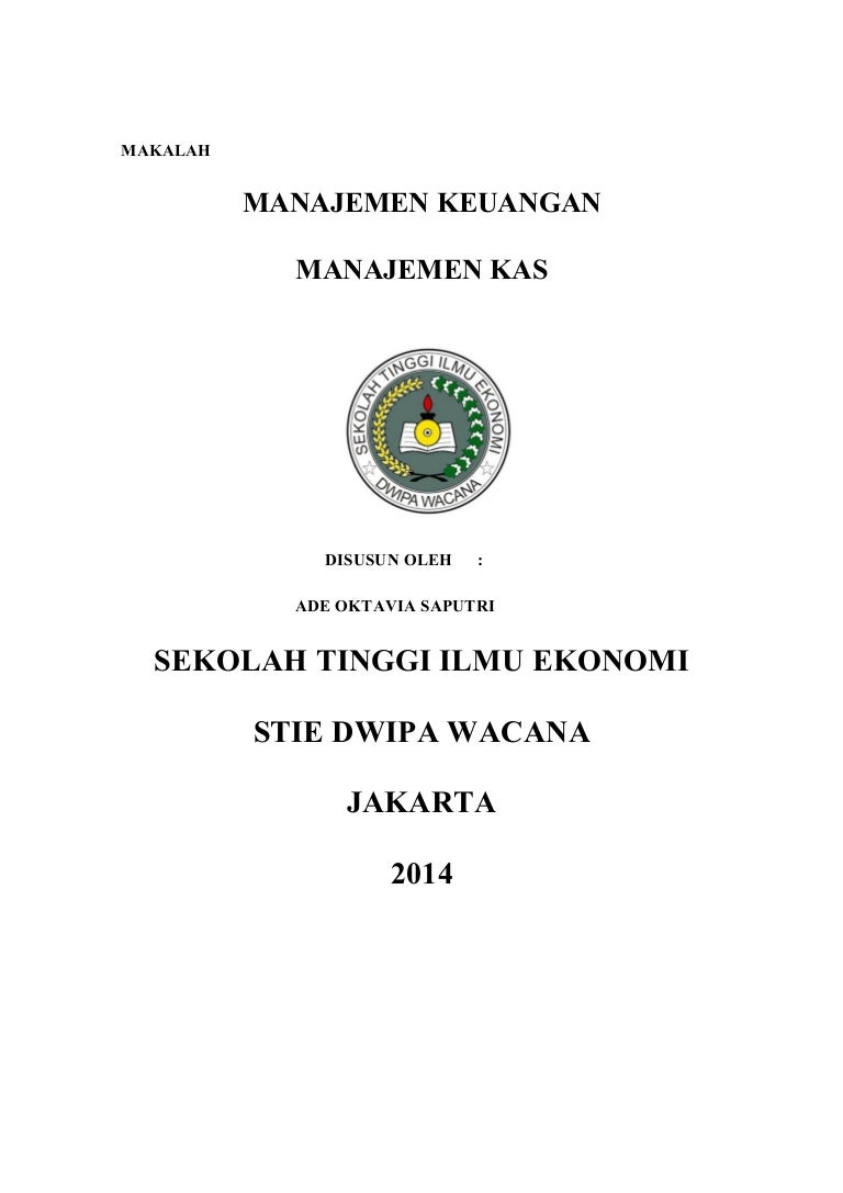 Contoh Makalah Jurnal Manajemen Keuangan