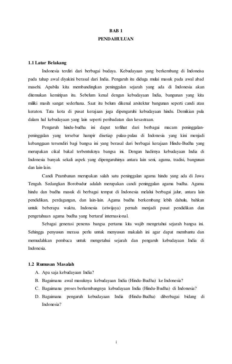 Makalah Masuknya Budaya India Ke Indonesia