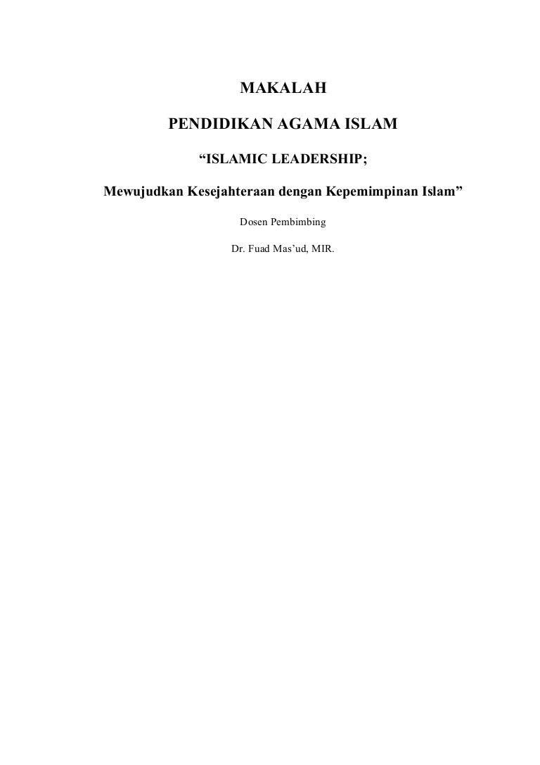 Makalah Pai Kepemimpinan Islam