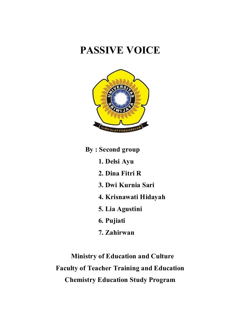 Makalah Passive Voice