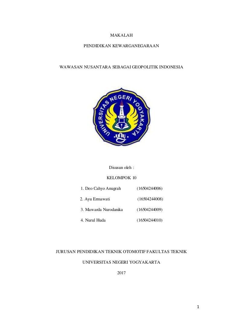 Kesimpulan Tentang Wawasan Nusantara Sebagai Geopolitik Indonesia