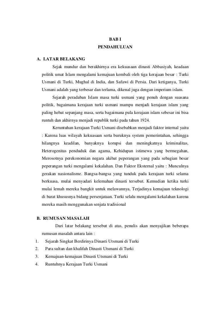 Makalah Dinasti Utsmaniy