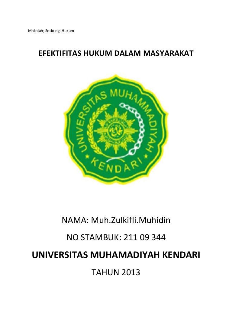 Tugas Mata Kuliah Sosiologi Hukum Ilmusosial Id