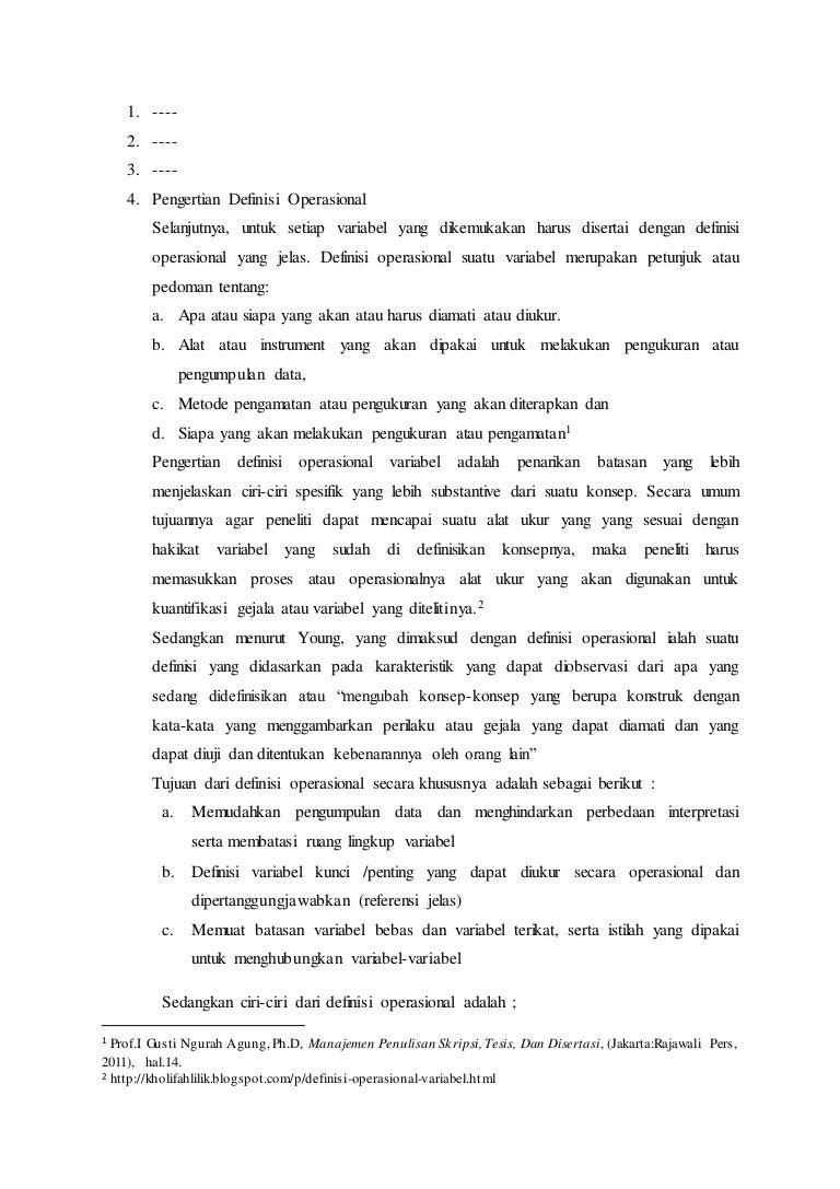 Contoh Skripsi Operasional Contoh Soal Dan Materi Pelajaran 10