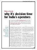 Ericsson Business Review: Make or break: why it's decision time for India's operators