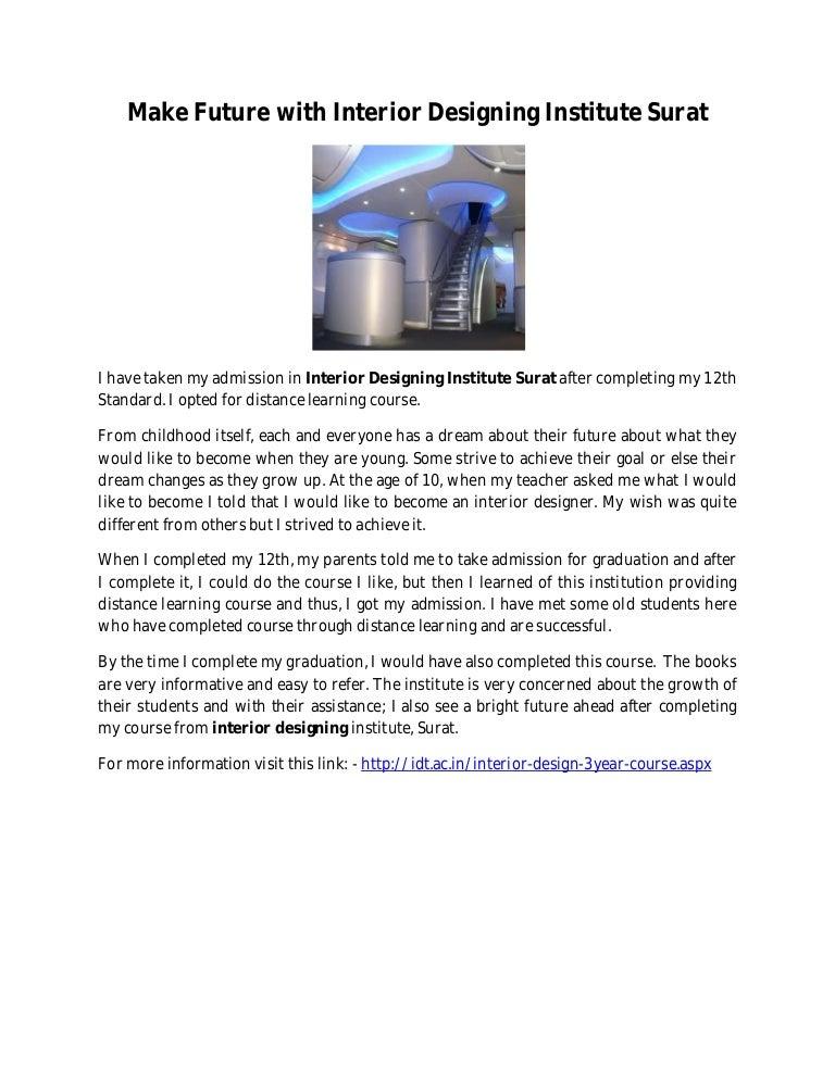 Make Future With Interior Designing Institute Surat