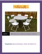 Make purchase of affordable chairs and tables