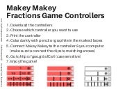 Makey makey fraction game controllers