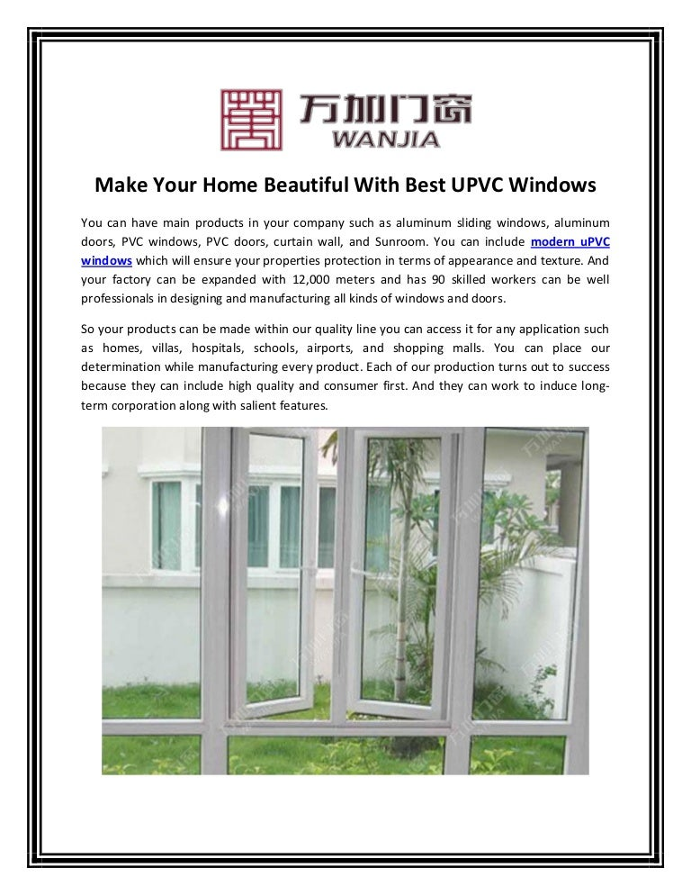 Make Your Home Beautiful With Best Upvc And Aluminum Sliding Windows