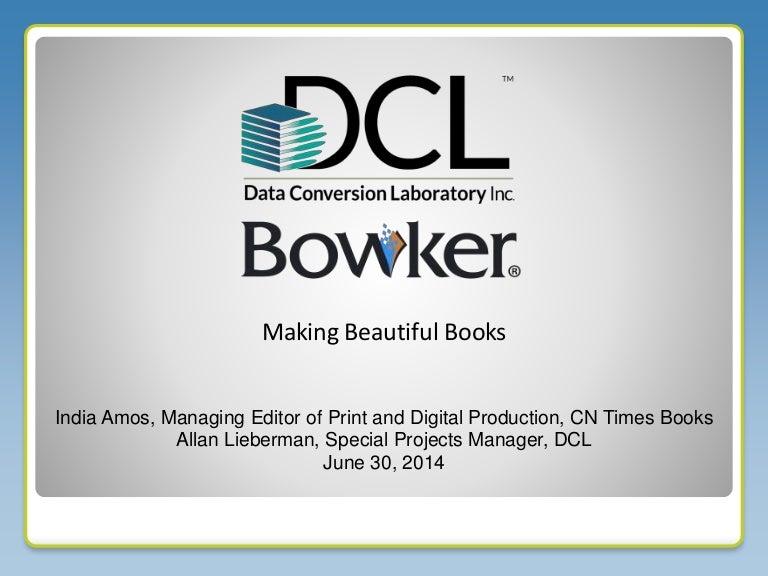 Making Beautiful Books